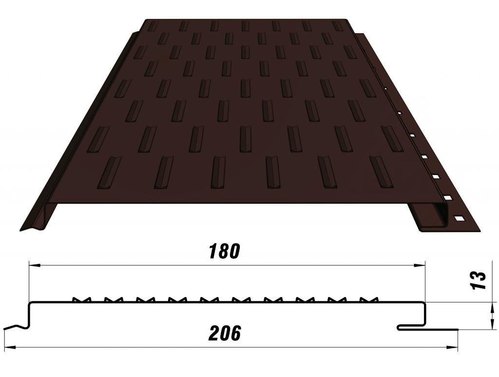 софит металлический перфорированный размеры